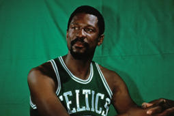 BOSTON - 1969:  Bill Russell #6 of the Boston Celtics poses for a portrait in 1969 at the Boston Garden in Boston, Massachusetts. NOTE TO USER: User expressly acknowledges and agrees that, by downloading and or using this photograph, User is consenting to the terms and conditions of the Getty Images License Agreement. Mandatory Copyright Notice: Copyright 1969 NBAE (Photo by Dick Raphael/NBAE via Getty Images)