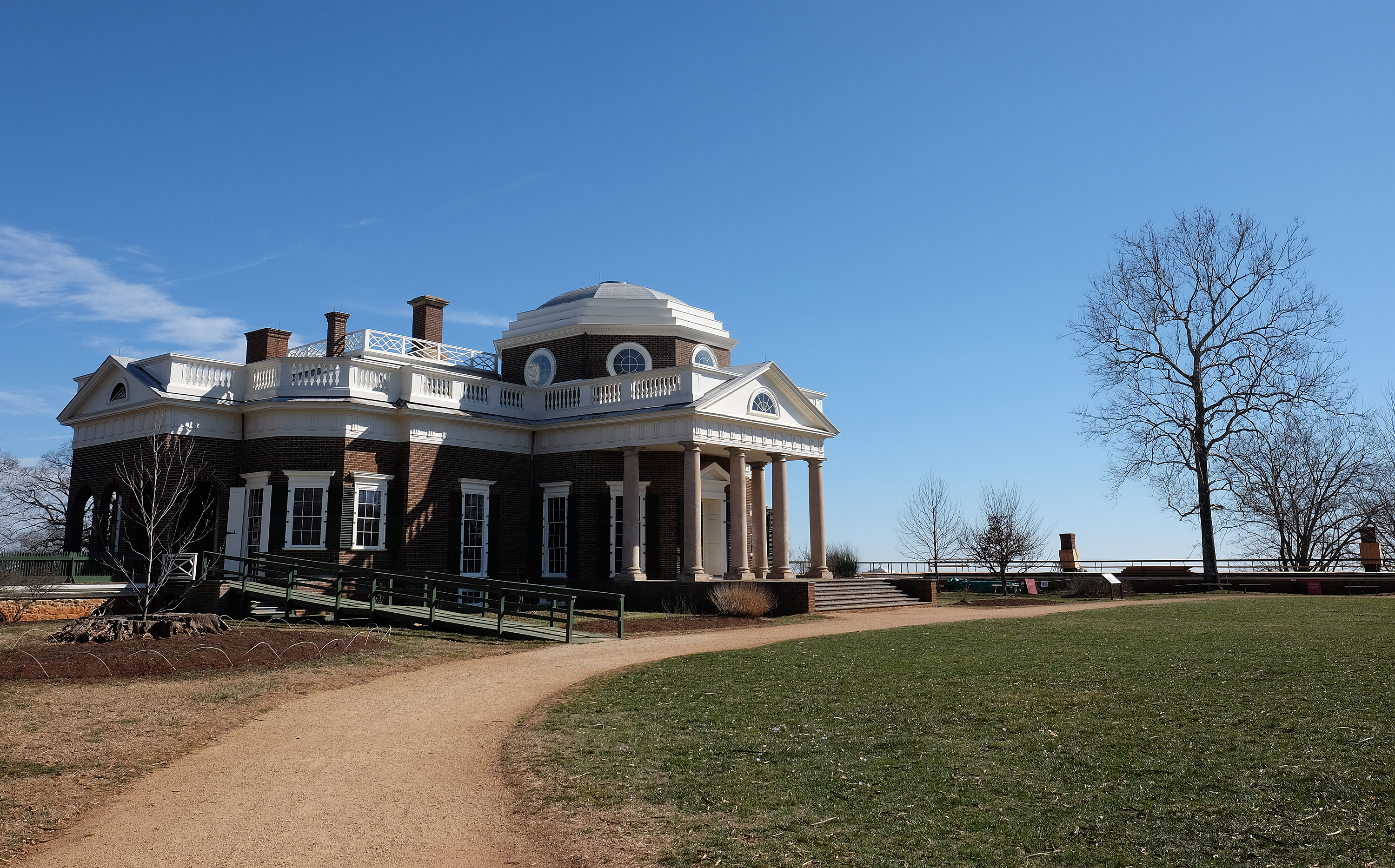 Monticello, home of Thomas Jefferson, in Charlottesville, Va.