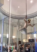 Guy nails epic dance routine in wind tunnel