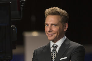 David Miscavige, Chairman of the Board Religious Technology Center and ecclesiastical leader of the Scientology religion, at the Churchs global media center on Sunset Boulevard December 14, 2016 in Hollywood, California. (Photo by Church of Scientology via Getty Images)