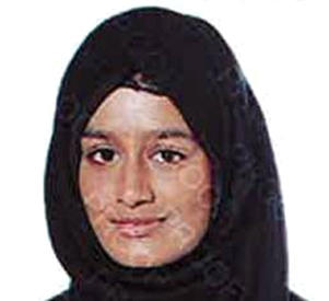 "Undated handout file photo issued by the Metropolitan Police of Shamima Begum, who fears her unborn baby will be taken away from her as her family pleaded for the teenager to be allowed back to the UK ""as a matter of urgency""."