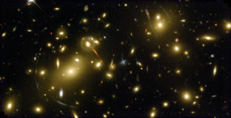 Cluster of galaxies called Abell 2218 in constellation Draco in one of first photos from just-fixed Hubble Space Telescope after Dec., 1999 servicing mission.  (Photo by Andrew Fruchter/Ero Team/NASA/The LIFE Picture Collection/Getty Images)