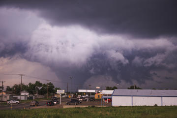 CANADIAN, TEXAS- MAY, 27: A powerful cone tornado on May, 27, 2015, in Canadian, Texas.  Awe-inspiring skyscapes show extreme weather ripping through tornado alley and surrounding US states. Menacing-looking supercells and sky-shattering lightning dominate the images, which were captured by Slovenian adrenaline junkie Marko Korosec.  PHOTOGRAPH BY Marko Korosec / Barcroft Media (Photo credit should read Marko Korosec / Barcroft USA via Getty Images)