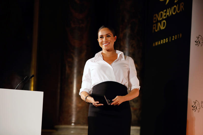 Meghan, Duchess of Sussex, at a function in London
