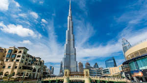 02/06/2017 View of Burj Khalifa on a beautiful day, Dubai, United Arab Emirates
