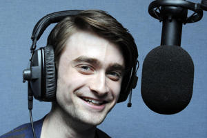 Actor Daniel Radcliffe at the Xfm London studios, Leicester Square, London.   (Photo by Rebecca Naden/PA Images via Getty Images)