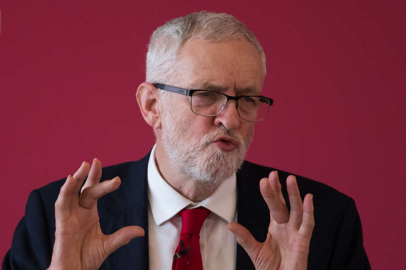 Labour leader Jeremy Corbyn during a speech at a Labour local government conference, at The Slate, Warwick conferences, Coventry. (Photo by Aaron Chown/PA Images via Getty Images)