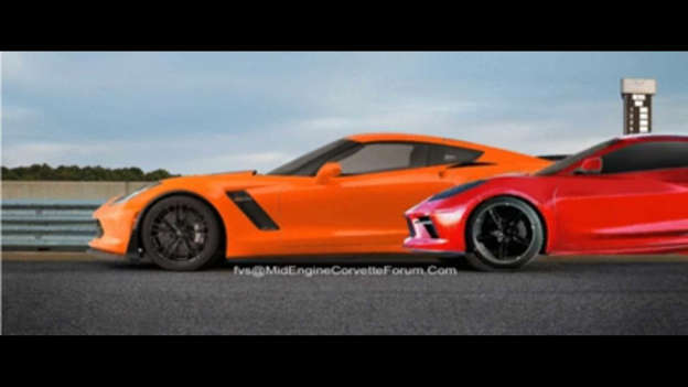Mid-Engined Corvette Render Video Offers Cool Size Comparison