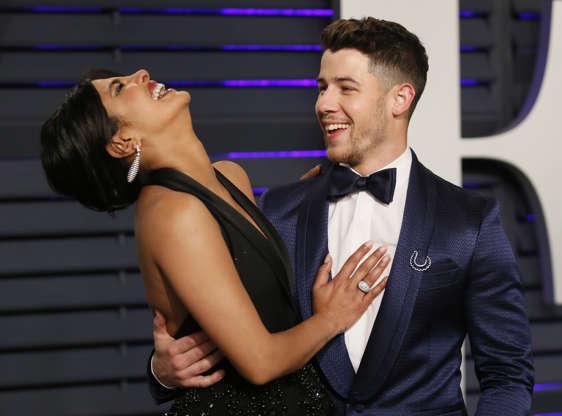 Slide 1 of 25: 91st Academy Awards – Vanity Fair – Beverly Hills, California, U.S., February 24, 2019 – Priyanka Chopra  and Nick Jonas. REUTERS/Danny Moloshok
