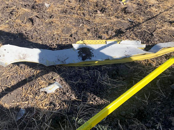 Wreckages of plane is seen at the crash scene after an Ethiopian Airlines passenger plane with 149 passengers and eight crew members on board crashed on Sunday morning, in Debre Zeit, near Addis Ababa on March 10, 2019.