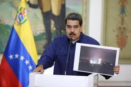 Venezuela's President Nicolas Maduro speaks during a broadcast at Miraflores Palace in Caracas, Venezuela March 11, 2019. Miraflores Palace/Handout via REUTERS ATTENTION EDITORS - THIS PICTURE WAS PROVIDED BY A THIRD PARTY.