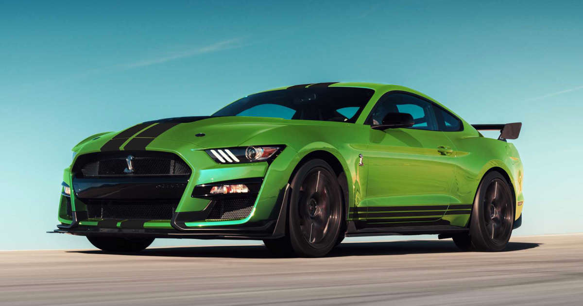 Ford Mustang gets grabber lime paint in honour of St