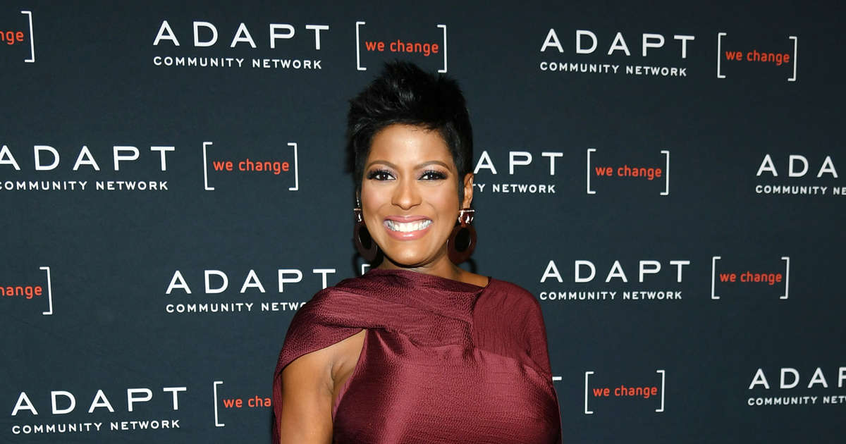 261406bd8 Tamron Hall shows off baby bump in first red carpet since pregnancy  announcement