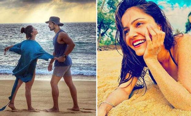 Rubina Dilaik and Abhinav Shukla flaunt their toned bodies