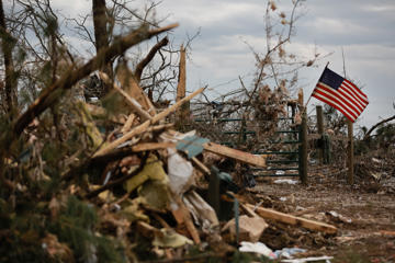BEAUREGARD, AL - MARCH 11: Damage is seen in the aftermath of an EF4 tornado on March 11, 2019 in Beauregard, Alabama. Numerous tornado touchdowns were reported in Eastern Alabama and Western Georgia on March 3 killing at least 23 people. (Photo by Elijah Nouvelage/Getty Images)