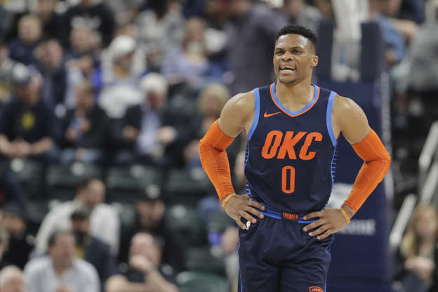 newest 5fe38 54441 Thunder's Westbrook facing suspension for Monday's game vs. Heat