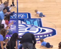 Baby race at basketball halftime ends with epic comeback