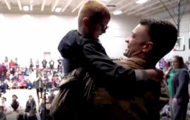 Kids get surprise homecoming from military dad at school