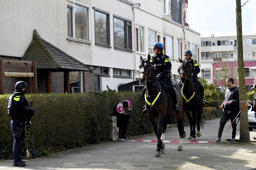 Mounted police are seen after a shooting in Utrecht, Netherlands, March 18, 2019. REUTERS/Piroschka van de Wouw