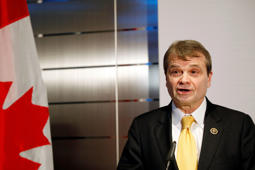 WASHINGTON, DC - FEBRUARY 27: Rep. Mike Quigley (D-IL) speaks during the Canadian Embassy Reception for Black History Month at the Canadian Embassy on February 27, 2019 in Washington, DC. (Photo by Patrick McDermott/NHLI via Getty Images)