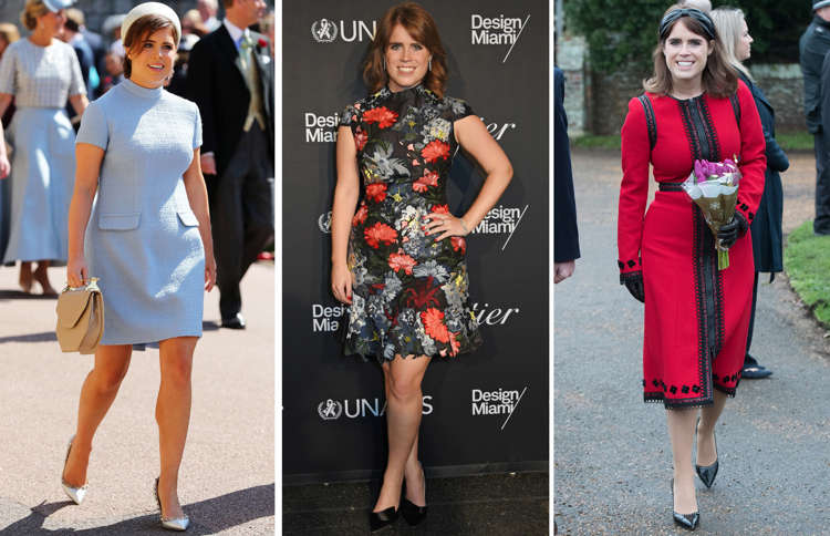 Princess Eugenie glams up her simple black dress with one