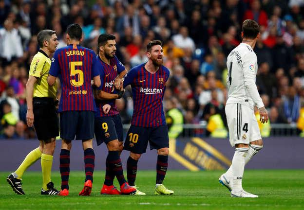 Soccer Football - La Liga Santander - Real Madrid v FC Barcelona - Santiago  Bernabeu 1c90328e3e7
