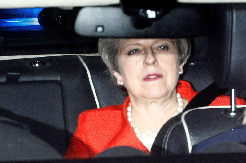 Britain's Prime Minister Theresa May leaves the Houses of Parliament in London, Britain, February 27, 2019. REUTERS/Henry Nicholls