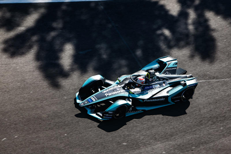 MEXICO CITY, MEXICO - FEBRUARY 16: Nelson Piquet Jr. (BRA), Panasonic Jaguar Racing, Jaguar I-Type 3 during the 2019 Mexico City E-Prix on February 16, 2019 in Mexico City, Mexico. (Photo by Andrew Ferraro/Jaguar Racing/Getty Images)