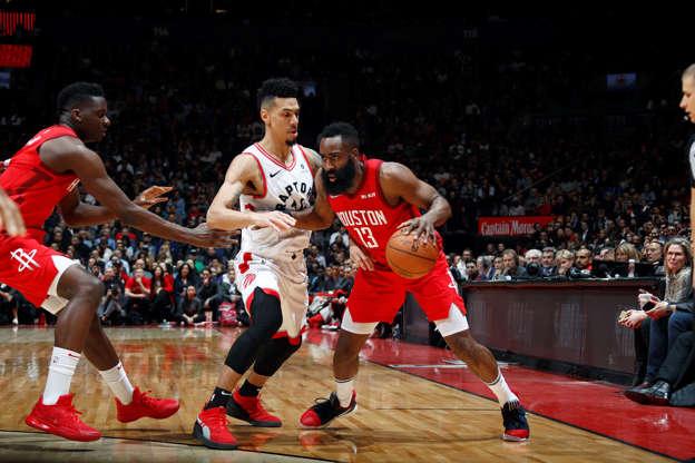 Harden Scores 35 As Rockets Fend Off Raptors
