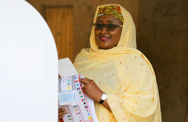 Image result for Aisha Buhari  AISHAT BUHARI 'FINALLY' ACKNOWLEDGES MASSIVE CORRUPTION UNDER HER HUSBAND'S WATCH BBUtuXU