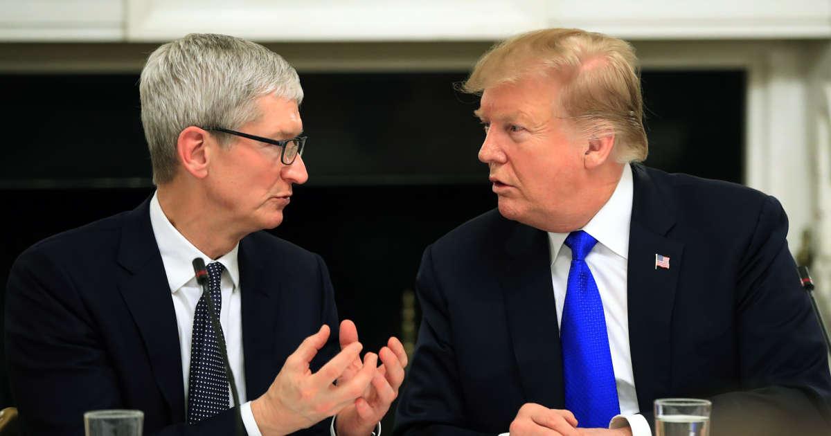 Apple CEO trumps Trump, reframing his name game