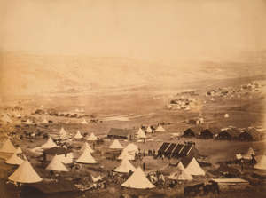 British Cavalry camp, looking towards Kadikoi, Crimea, Ukraine, by Roger Fenton, 1855 British Cavalry camp, looking towards Kadikoi, Crimea, Ukraine, by Roger Fenton, 1855. (Photo by: GHI/UIG via Getty Images)