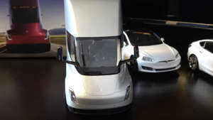 a close up of a car: Tesla Semi Diecast