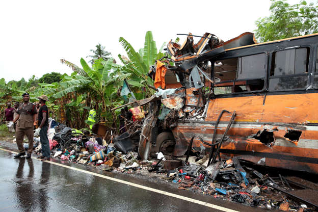 Ghana bus crash: At least 60 killed in collision