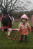 Little girl follows pony's lead in overcoming one of life's obstacles