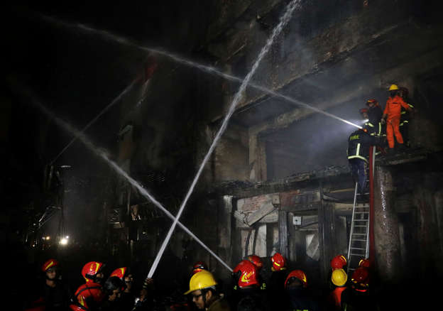 High-rise building catches fire near Dhaka New Market