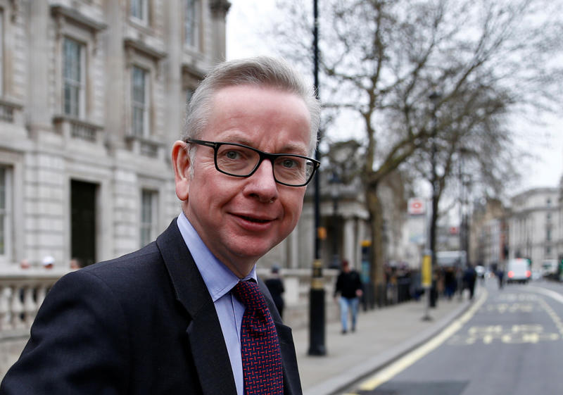 Britain's Secretary of State for Environment, Food and Rural Affairs Michael Gove is seen outside Downing Street in London, Britain March 22, 2019. REUTERS/HenryNicholls