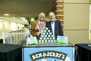 Ben Cohen and Jerry Greenfield, co-founders of the Ben & Jerry's ice cream company