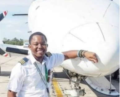 Photos of handsome 21-year-old named Zambia's youngest pilot