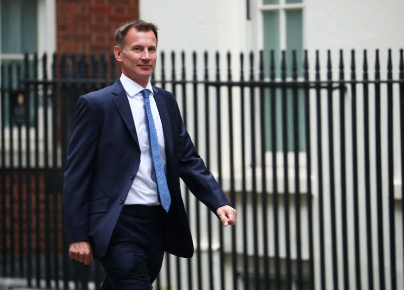 Britain's Foreign Secretary Jeremy Hunt arrives in Downing Street, London, September 4, 2018. REUTERS/Hannah McKay
