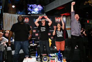 "SiriusXM's Mark Henry, Dave LaGreca, Marissa Rives and Doug Mortman host SiriusXM's ""Busted Open"" celebrating 10th Anniversary In New York City on the eve of WrestleMania 35 on April 6, 2019 in New York City."