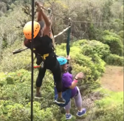 Woman rescued from zip line in Hawaii