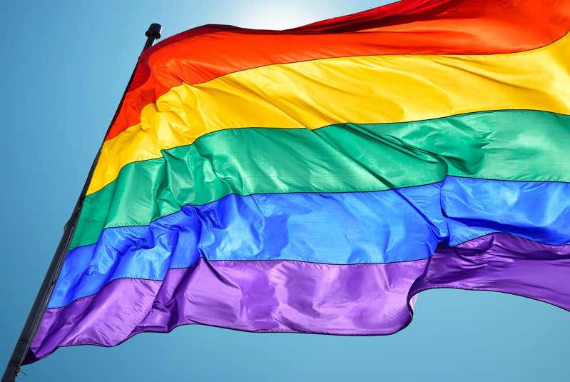 A file photo of a pride flag.