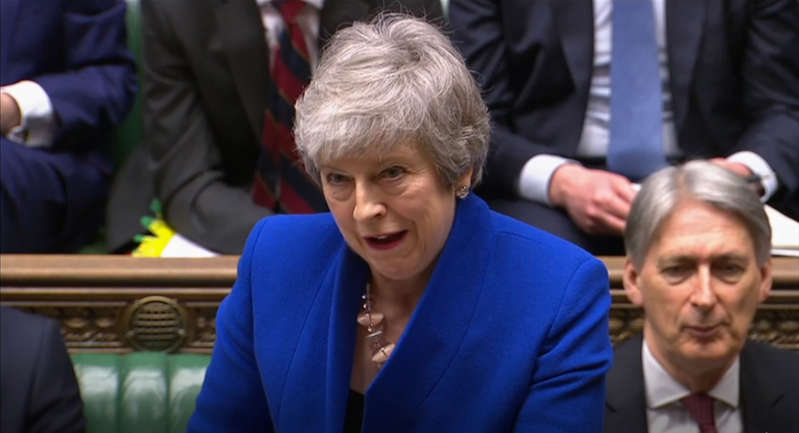 Prime Minister Theresa May speaks during Prime Minister's Questions in the House of Commons, London. (Photo by House of Commons/PA Images via Getty Images)