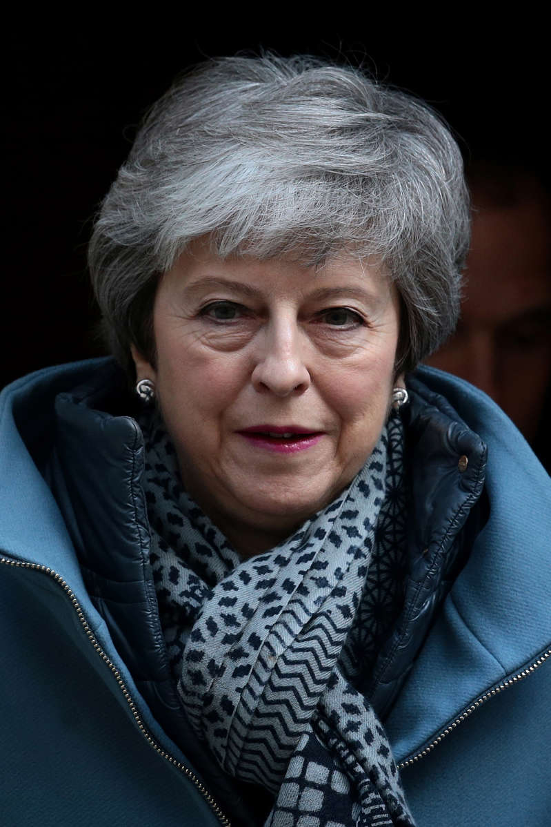 LONDON, ENGLAND - APRIL 10: Prime Minister Theresa May leaves Number 10 Downing Street for PMQ's on April 10, 2019 in London, England. EU leaders are set to meet for an emergency summit in Brussels to decide whether to grant the UK another delay to Brexit. Prime Minister Theresa May wants to delay the date the UK leaves the EU to 30 June. (Photo by Jack Taylor/Getty Images)