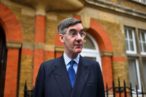 Conservative Party MP and European Research Group chairman Jacob Rees Mogg leaves his house, London on March 28, 2019. The Commons failed to find a majority for a way forward after voting for eight different options on Wednesday. Prime Minister Theresa May has announced that she will quit once Brexit will be delivered, if her withdrawal agreement is approved. (Photo by Alberto Pezzali/NurPhoto via Getty Images)