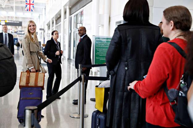 de4e5656c9da White House senior adviser Ivanka Trump laughs as she is greeted as she  arrives to board