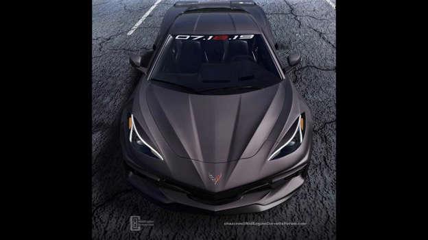 Mid-engined Chevy Corvette rendered based on teaser