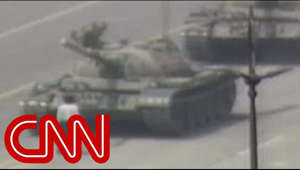 A CNN crew covering the June 5, 1989, protests in Beijing recorded a man stopping a Chinese tank in Tiananmen Square. For more CNN videos, visit our site at http://www.cnn.com/video/