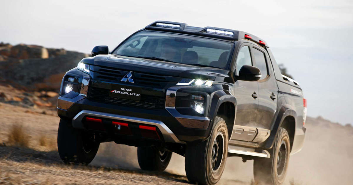 Mitsubishi Triton Absolute Debuts As Ford Ranger Raptor Rival